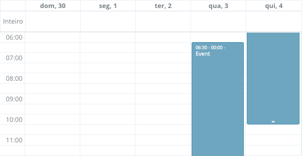 Fullcalendar doesn't show correctly event in month mode